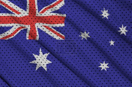 Australia flag printed on a polyester nylon sportswear mesh fabr