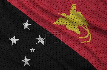Papua New Guinea flag printed on a polyester nylon sportswear me