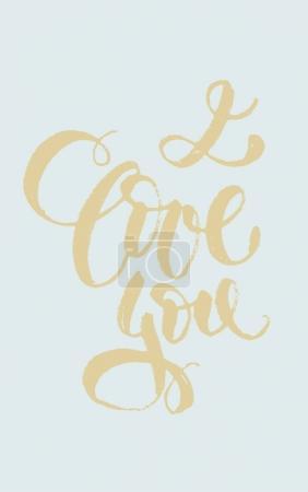 "brush-type lettering ""i love you"""