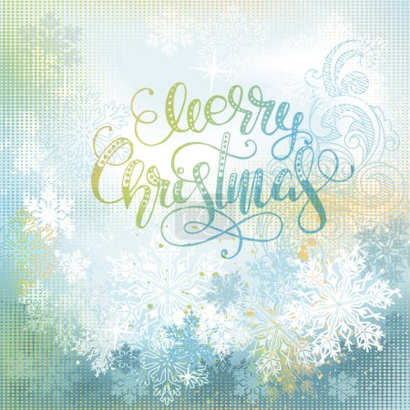 Illustration for Magic christmas background. Ai eps 10. File grouped and layered. - Royalty Free Image