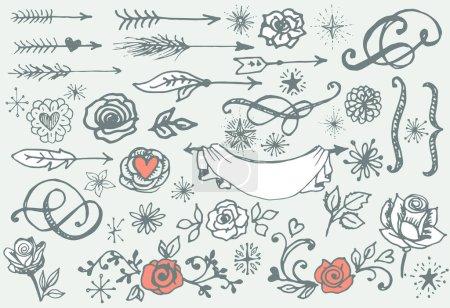 valentine's day design elements.
