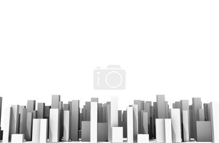 Photo pour Abstrait numérique ville skylyne fond rendu 3D - image libre de droit