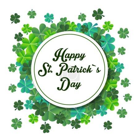 Illustration pour Illustration vectorielle d'un arrière-plan de la St. Patricks Day, carte - image libre de droit