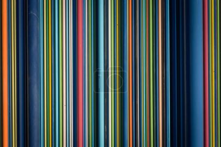 Row of colorfull stripes