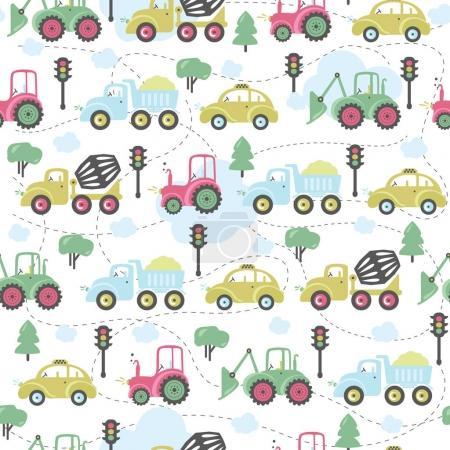 Illustration for Background for children room design, poster, cards - Royalty Free Image