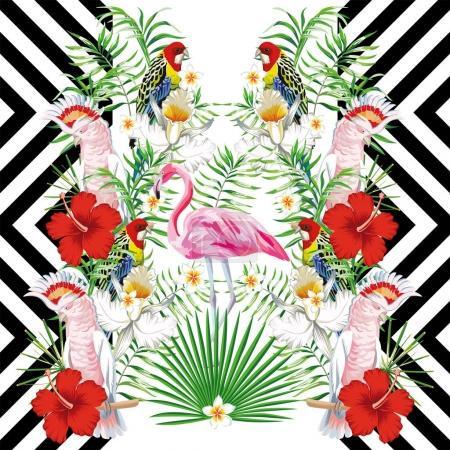Mirror bird design geometric