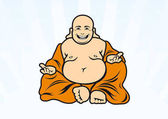 Buddha cartoon character Illustration of sitting Buddha