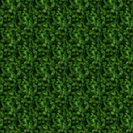 Green bush seamless pattern
