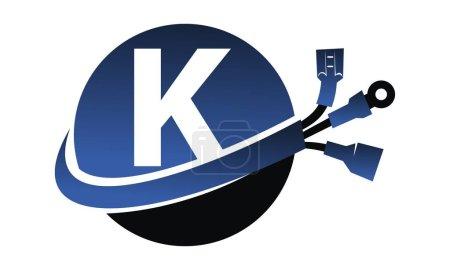 Illustration pour Lettre mondiale sur l'électricité K - image libre de droit