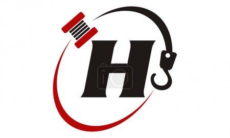 Crane Hook Towing Letter H...