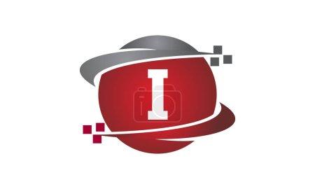 Ilustración de Transferencia de tecnología de la letra I - Imagen libre de derechos