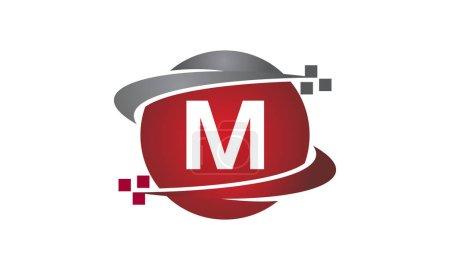 Ilustración de Carta de transferencia de tecnología M - Imagen libre de derechos