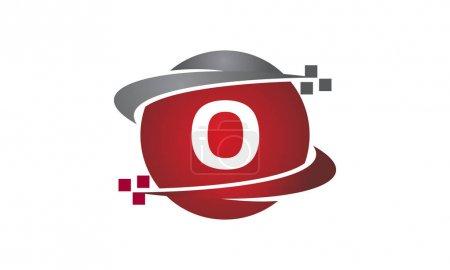 Ilustración de Carta de transferencia de tecnología O - Imagen libre de derechos