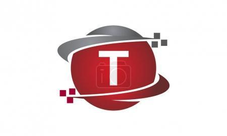 Ilustración de Carta de transferencia de tecnología T - Imagen libre de derechos