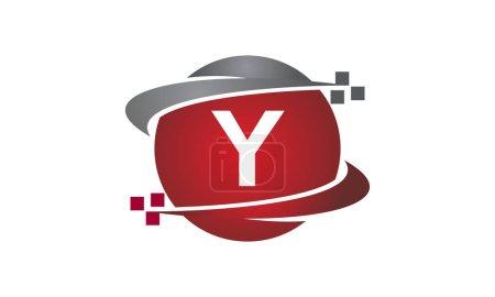 Ilustración de Carta de transferencia de tecnología Y - Imagen libre de derechos