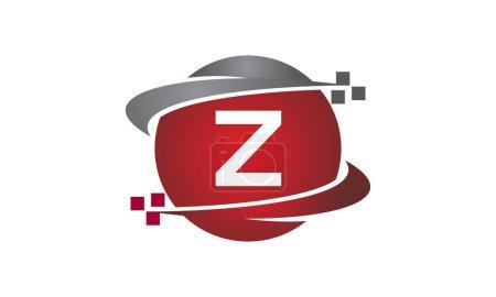 Ilustración de Tecnología transferencia letra Z - Imagen libre de derechos