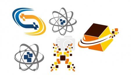 Ilustración de Conjunto de Pixel de transferencia de tecnología - Imagen libre de derechos