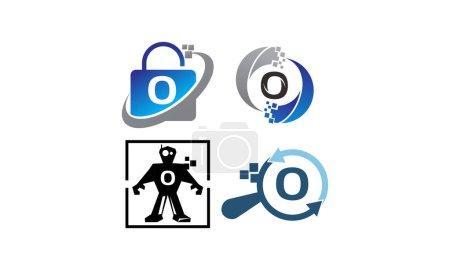 Ilustración de Conjunto de plantillas de aplicación O tecnología - Imagen libre de derechos