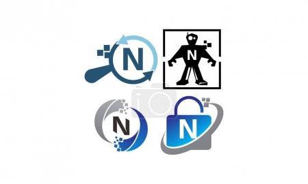Ilustración de Tecnología conjunto de plantillas de aplicación N - Imagen libre de derechos