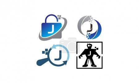 Ilustración de Tecnología conjunto de plantillas de aplicación J - Imagen libre de derechos
