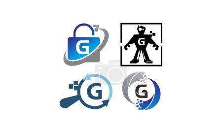 Ilustración de Conjunto de plantillas de aplicación G tecnología - Imagen libre de derechos