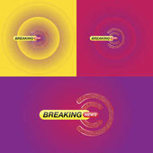 Breaking news banner for the screen Template for TV channels