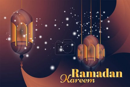 Ramadan Kareem greeting card.