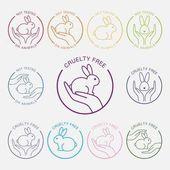 No animals testing icon Animal cruelty free icon