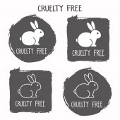 Cruelty free icon No animals testing sign