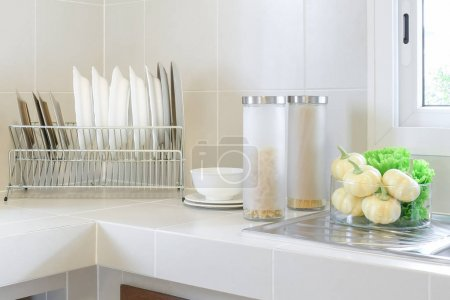 Photo for Modern pantry with utensil in kitchen - Royalty Free Image