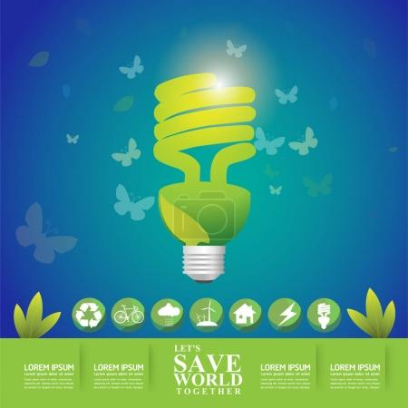 Illustration for Save the World Concept  vector illustration - Royalty Free Image