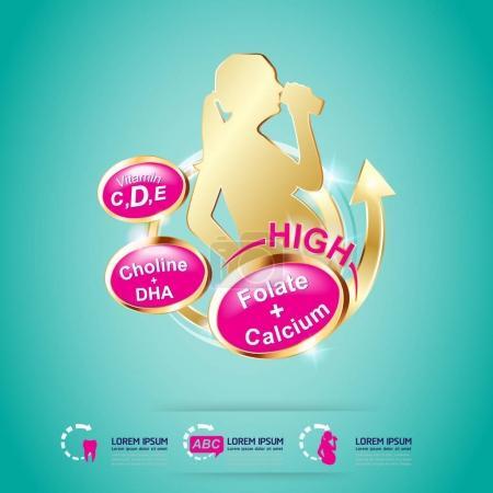 Calcium Omega Vitamin and Nutrients