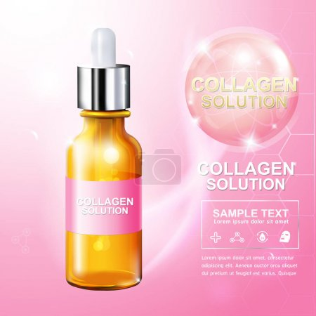 Collagen and Vitamin for Skin Concept