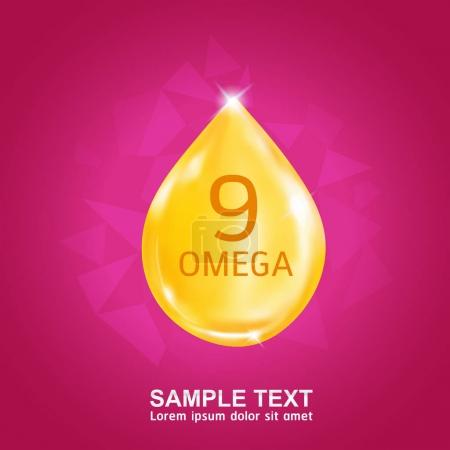 Kids Calcium Vitamin Omega 3 and DHA Vector icon Concept.