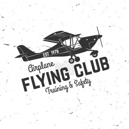 Badge rétro vecteur Flying club