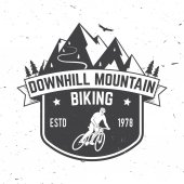 Downhill mountain biking Vector illustration