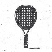 Padel tennis racket icon Vector illustration