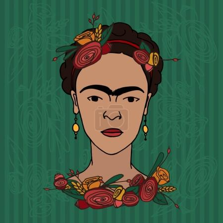 hand drawn Frida Kahlo