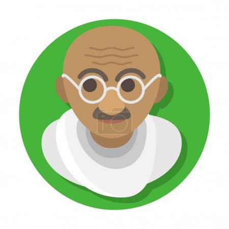 квартира стилизованный портрет Ганди