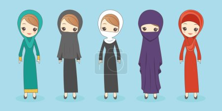 arab woman wear different clothes