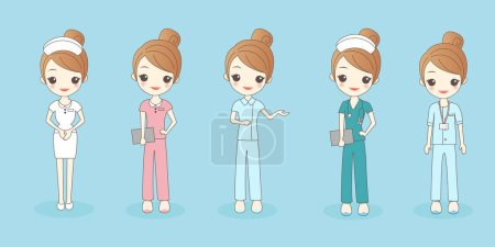 Illustration for Cartoon beautiful nurse, great for your design - Royalty Free Image