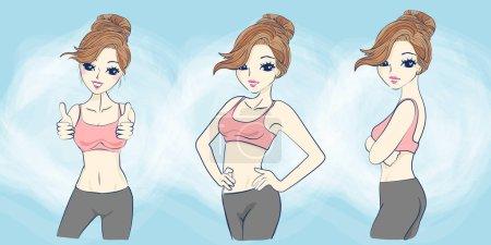 cartoon sprot woman