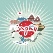 cute cartoon japan element
