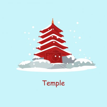 Tradition Temple in Japan in winter