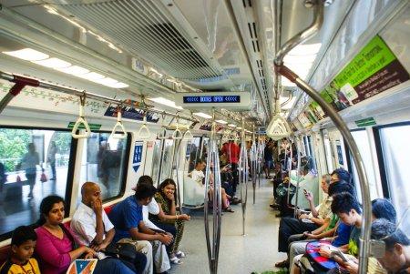 Interior of Kawasaki subway carriage