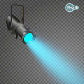 The projector is a light device that redistributes the light of the lamp