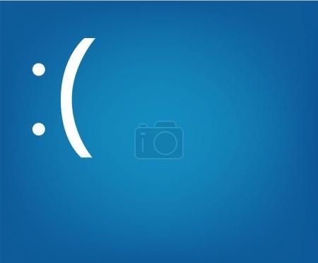 Computer blue Screen of Death