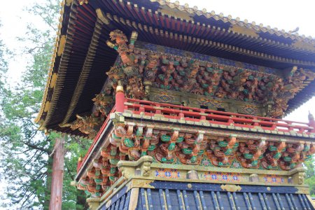 pavilion of a temple in world heritage site, Nikko, Japan