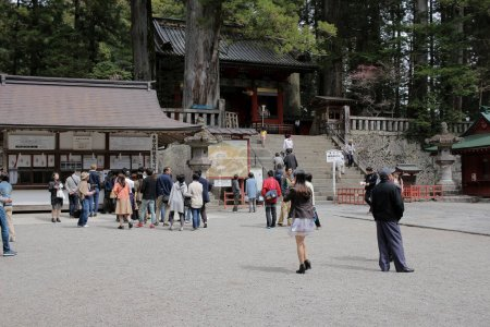 People visit Tosho-gu Shrine at 2016