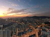 8 Dec 2019 Top view of kowloon of hong kong city